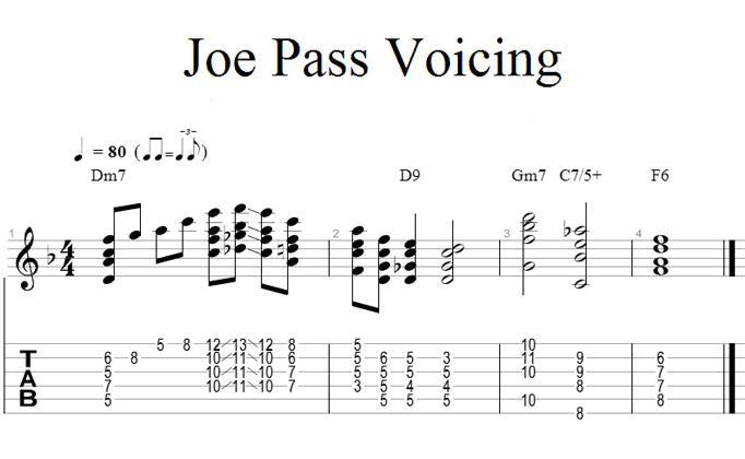 Joe Pass Voicing   :>)azZTechs#