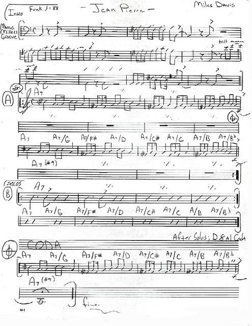 Jean Pierre (Miles Davis) partition | :>)azZTechs#