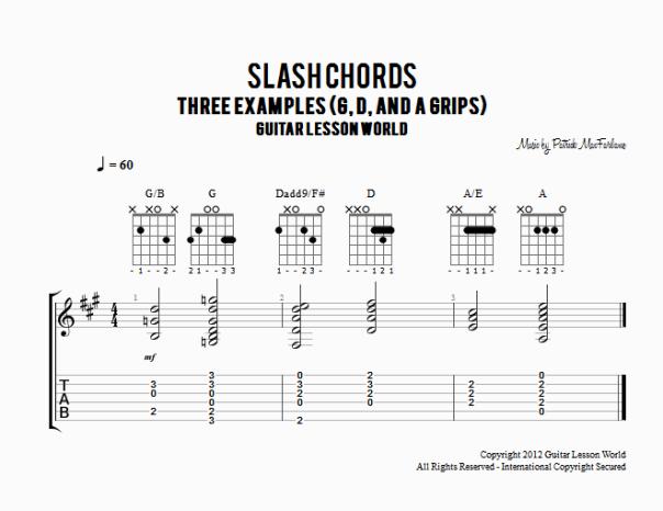 Slash Chords | :>)azZTechs#