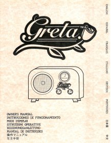Fender Greta Owner's Manual a