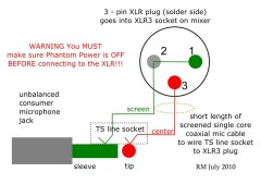 How to wire an unbalanced microphone to a balanced xlr input how to wire an unbalanced microphone to a balanced xlr input azztechs cheapraybanclubmaster Image collections