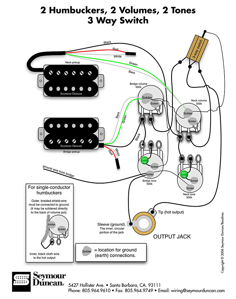 seymour duncan les paul electrical schematic u003e azztechs rh jaazz me Les Paul Pickup Wiring Les Paul Pickup Wiring