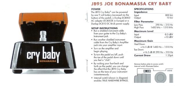 JB95 JOE BONAMASSA Wah